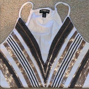 sequin body suit